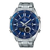 CASIO EDIFICE 定時數碼雙重顯示計時錶(EFV-C100D-2A)-藍x51mm