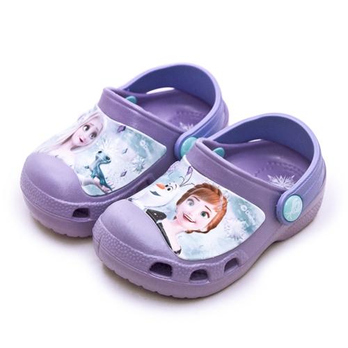 LIKA夢 Disney 迪士尼 15cm-20cm 冰雪奇緣 FROZEN 2 輕量兒童涼鞋 台灣製造 紫 04717 中童