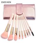 化妝刷 ENZOKEN化妝刷套裝9支刷子初學者化妝套刷彩妝工具眼影刷全套 京都3C