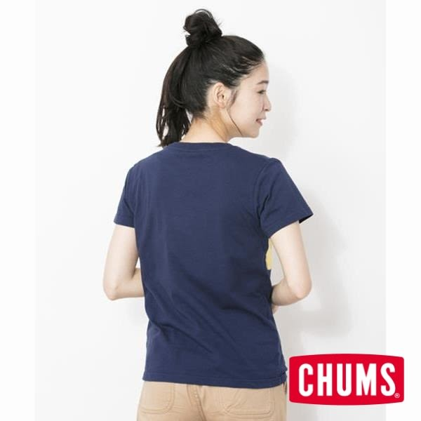 CHUMS 日本 女 Booby 口袋短袖T袖 深藍 CH111367N001