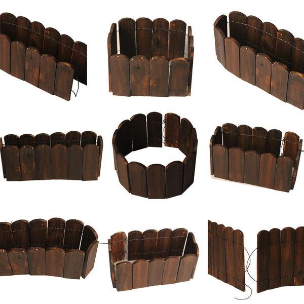 戶外室內陽台碳化防腐木花圃圍欄木質柵欄實木護欄園藝裝飾小籬笆 MKS卡洛琳