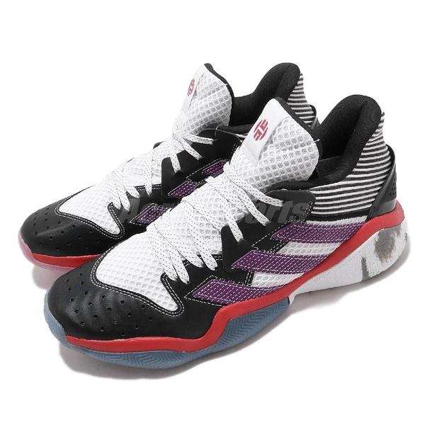 adidas 籃球鞋 Harden Step-Back 黑 紫 白 男鞋 大鬍子 Geek Up 系列 【PUMP306】 EH1995