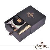 【SAPHIR莎菲爾-金質】抽屜式皮革鞋蠟小禮盒-專櫃皮鞋上蠟補色保養禮盒