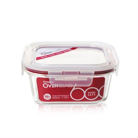 韓國KOMAX 耐熱玻璃保鮮盒-方型(800ml) -環保餐具保溫便當盒儲物盒