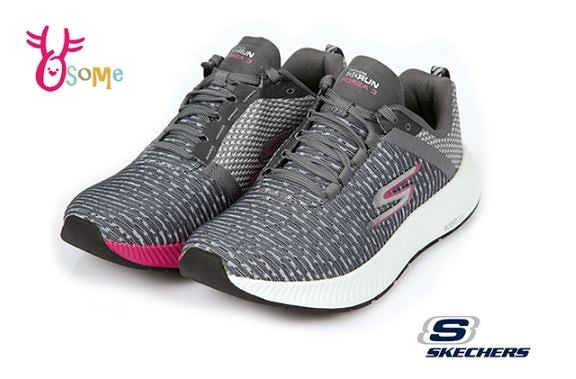 Skechers運動鞋女鞋 GO RUN 足弓支撐跑鞋 耐磨底 慢跑鞋 足弓鞋墊 R8236#灰色◆OSOME奧森鞋業