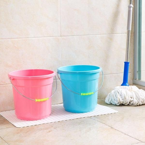 [超豐國際]加厚手提小水桶家用拖把桶 提水桶洗衣桶洗車儲水桶塑料