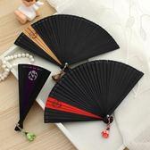 5寸日式迷你手工摺扇女扇子和風摺疊扇古風禮品中國風舞蹈扇表演  居家物語