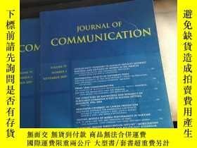 二手書博民逛書店JOURNAL罕見OF COMMUNICATION Volume
