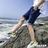 夏薄款男士牛仔短褲潮五分褲夏天寬鬆彈力直筒牛仔褲男短款七分褲 時尚芭莎