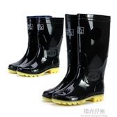 雨鞋上海雙錢男女雨靴中高筒防滑耐酸堿膠鞋套鞋勞保膠靴工礦水鞋 陽光好物