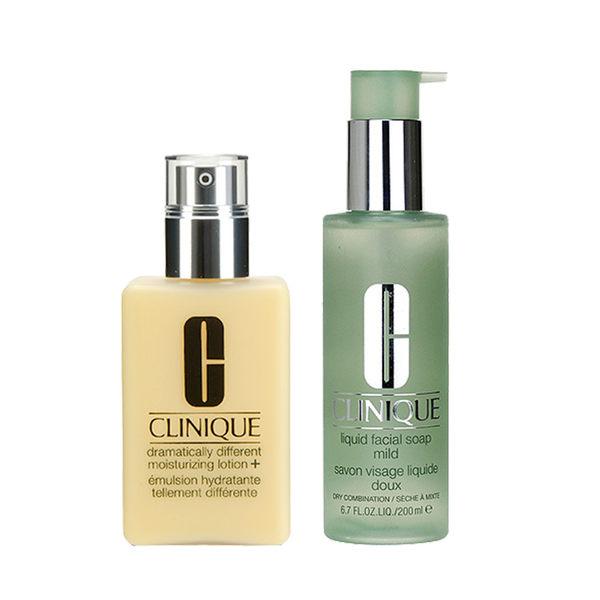 Clinique 倩碧 超值組 液體潔面皂 + 升級特效潤膚露+ 1 set, 2 pcs 【玫麗網】