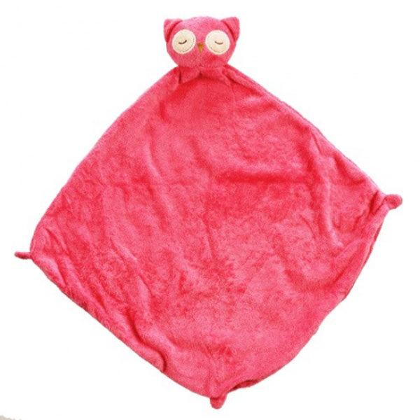 美國Angel Dear 動物嬰兒安撫巾 粉紅貓頭鷹