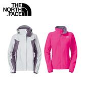 【The North Face 女 GT WIND PRO兩件式外套《灰白桃紅》】F13P-WHT/兜帽外套/防水/防風/抗寒/風衣