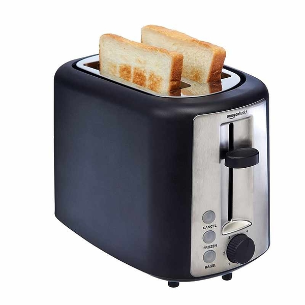 Amazon Basics 2 Slice 烤麵包機 KT-3680 Extra-Wide Slot Toaster with 6 Shade Settings [2美國直購]
