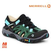 【Merrell】女款戶外涼鞋 ALL OUT BLAZE SIEVE 水陸兩棲系列 - 藍綠黑(12728)【全方位運動戶外館】