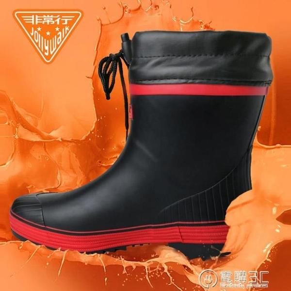 非常行雨鞋男防滑男士短筒雨天外穿防水防滑膠鞋雨靴  聖誕節免運