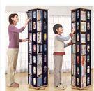 旋轉書架簡易學生小書架兒童創意書櫃書架落地置物架特價CD架包郵