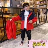 兒童裝男童沖鋒衣三合一可拆卸春秋款2021年新款春裝洋氣夾克外套【萌萌噠】