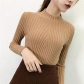 秋冬新款半高領毛衣女韓版加厚打底衫女裝上衣長袖修身套頭針織衫  印象家品旗艦店