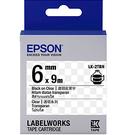 LK-2TBN EPSON 標籤帶 (透明底黑字/6mm) C53S652404