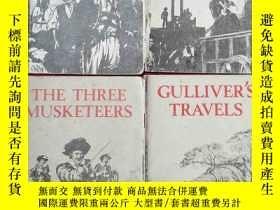 二手書博民逛書店英文版小說4冊合售:GULLIVER S罕見TRAVELS;TH