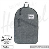 Herschel 後背包  炭灰色  斜拉鍊設計 15吋電腦後背包 (新版)  Parker-919  MyBag得意時袋