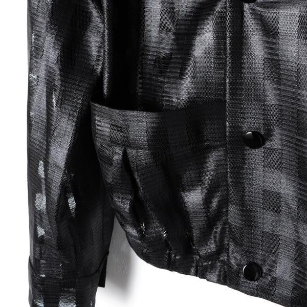 【REICO HSU 許瑋玲】雙排格紋釦透視外套