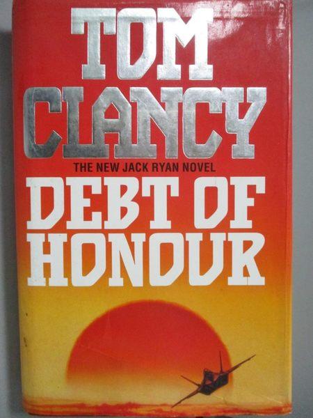 【書寶二手書T7/原文小說_XEY】Debt of Honour_Tom Clancy
