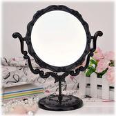 臺式化妝鏡復古梳妝鏡美容鏡子超大號旋轉鏡子【中元節鉅惠】