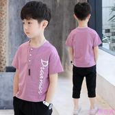 男童夏裝短袖圓領T恤新款中大童兒童小孩半袖體恤韓版上衣潮