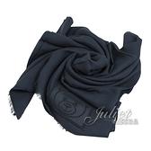 茱麗葉精品【全新現貨】 MOSCHINO 50134 M5344 電繡小熊LOGO莫代爾薄圍巾.深藍