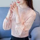 蕾絲上衣 蕾絲打底小衫女裝秋冬裝2020年新款潮洋氣時尚氣質網紗上衣服 CY潮流站
