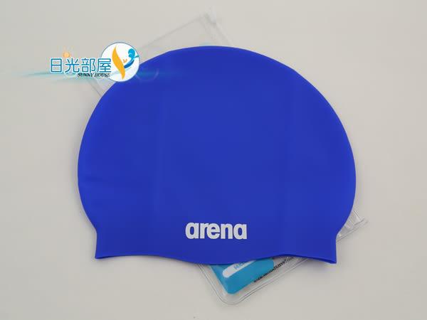 *日光部屋* arena (公司貨)/ACG-220-BLU 舒適矽膠泳帽