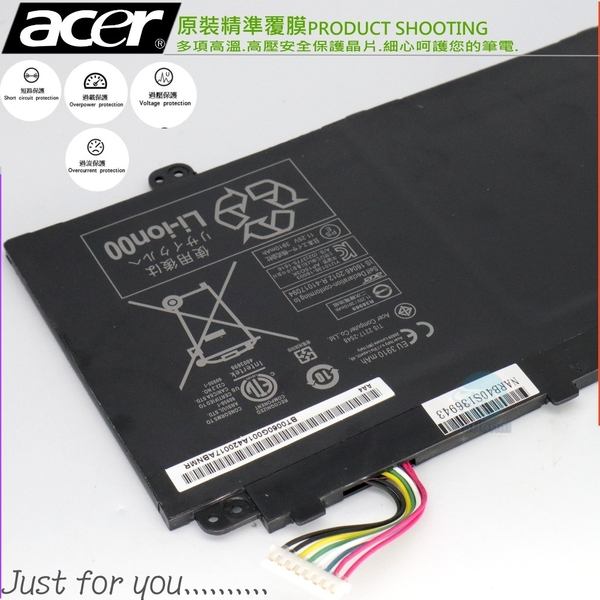 ACER CB5-312 SF514-14 電池(原廠)-宏碁 AP15O3K,AP15O5L,SPIN5,S13 S5-371T,R13 CB5-312T,SF514-51-50YK