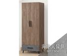 {{ 海中天休閒傢俱廣場 }} J-8 摩登時尚 臥室系列 24-616 灰橡美耐皿2.5尺一抽衣櫃