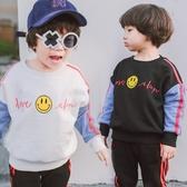 加厚海島絨笑臉拼接袖長袖上衣 長袖 橘魔法 Baby magic 現貨 兒童 童裝 童 中童 男童