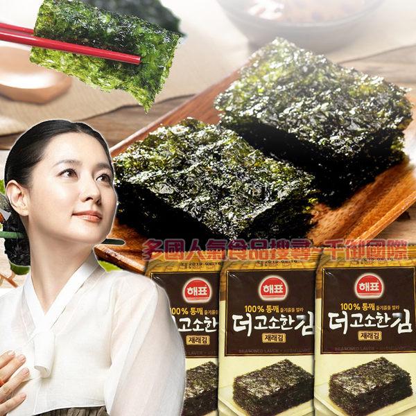 韓國思潮SAJO韓式海苔16入 包飯海苔傳統經典海苔 [KO88010399140]千御國際