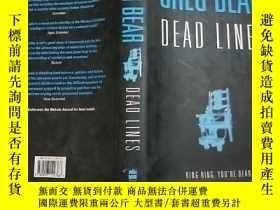 二手書博民逛書店(英文原版)DEAD罕見LINES(16開精裝本書衣全)Y114