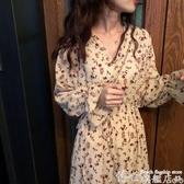 大碼連身裙 胖mm大碼女裝春秋法式顯瘦碎花連身裙2020新款時尚氣質雪紡裙子夏  博世