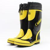 雨鞋男秋冬保暖中高筒透氣橡膠鞋防水鞋