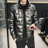 羽絨服男 男士羽絨服潮牌2021年冬季新款帥氣外套冬裝潮流短款加絨衣服【快速出貨八折下殺】