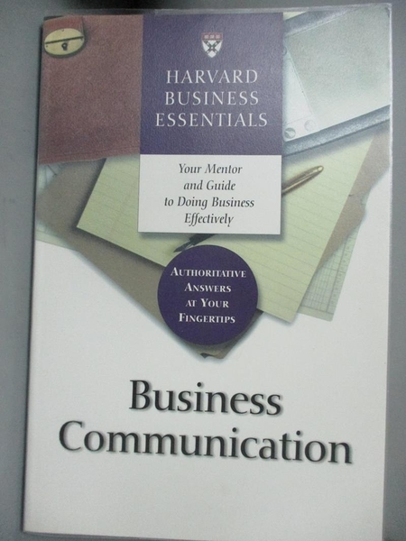 【書寶二手書T9/財經企管_YHC】Business Communication (Harvard Business E