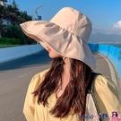 熱賣漁夫帽 漁夫帽女夏季百搭防曬遮陽帽大帽檐遮臉早春大沿防紫外線太陽帽子 coco