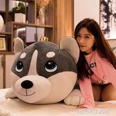 可愛柴犬公仔哈士奇毛絨玩具狗狗玩偶布娃娃女孩睡覺床上二哈抱枕  優樂美