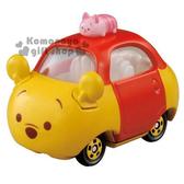 〔小禮堂〕TSUM TSUM 小熊維尼 TOMICA小汽車《黃.小豬.DMT-05.頂端款》經典造型值得收藏 4904810-84050