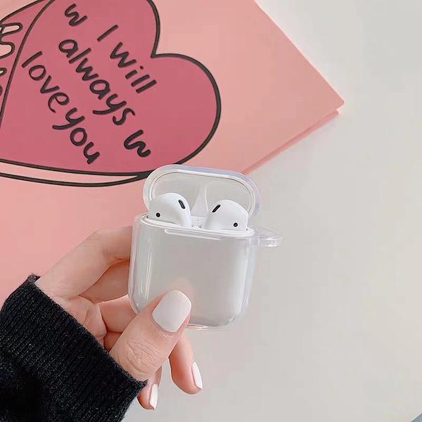 Airpods Pro 專用 1/2代 台灣發貨 [ 透明的也很好看 ] 藍芽耳機保護套 蘋果無線耳機保護