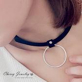 個性大簍空圓環造型頸鍊 項鍊 【櫻桃飾品】【10512 】