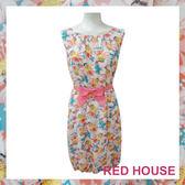 RED HOUSE-蕾赫斯-滿版雛菊燈籠雪紡洋裝(共2色)