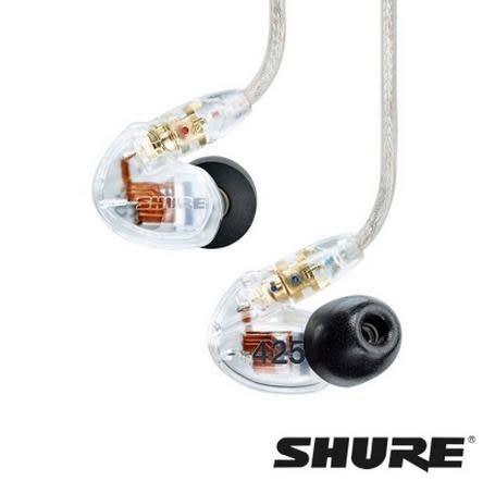 平廣 送16G隨身碟 舒爾 SHURE SE425 SE-425 透明色 耳道式 耳機 台灣富銘公司貨保固一年