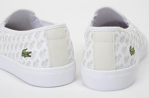 LACOSTE 女鞋 白色 GAZON 118 1 CAW 帆布 - 鞋款( 35CAW0007-65T) 18A